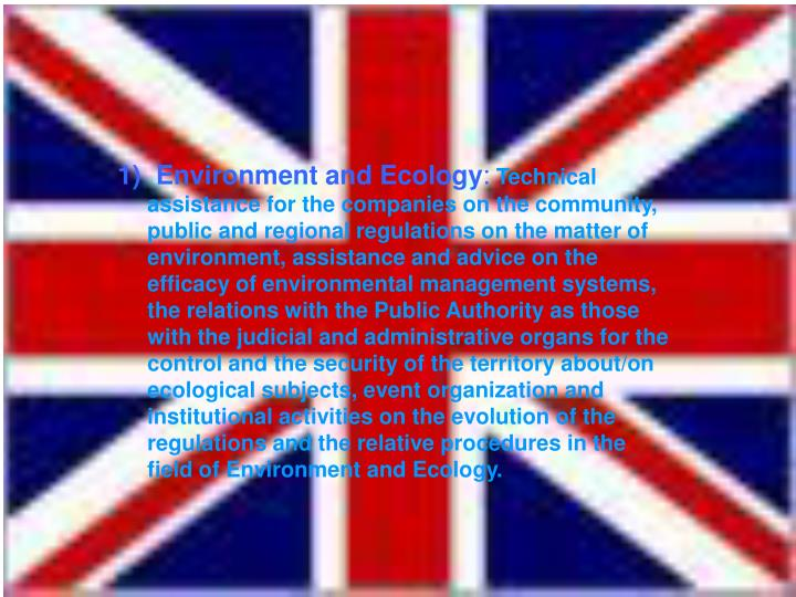 1)  Environment and Ecology