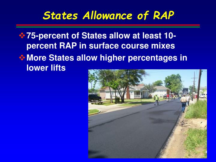 States Allowance of RAP