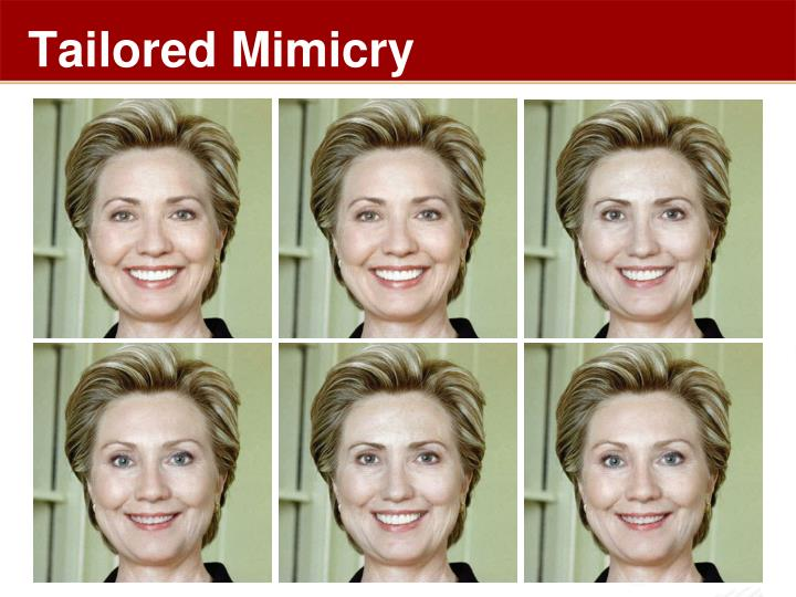 Tailored Mimicry