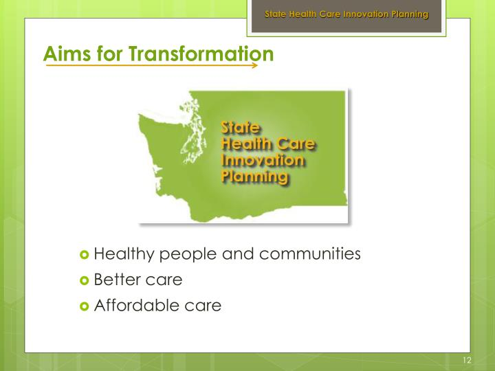 State Health Care Innovation Planning