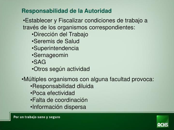Responsabilidad de la Autoridad