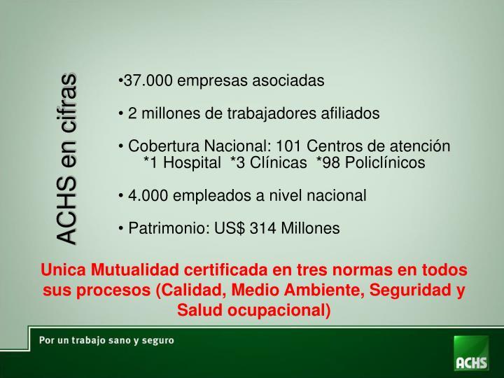 37.000 empresas asociadas