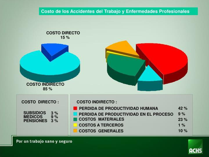 Costo de los Accidentes del Trabajo y Enfermedades Profesionales