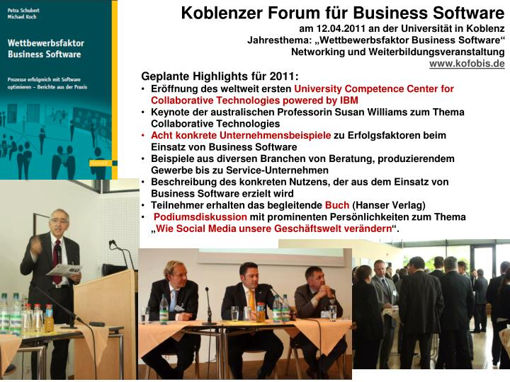 Koblenzer Forum für Business Software