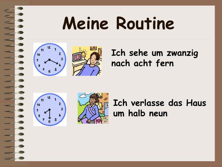 Meine Routine