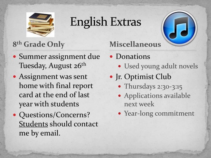 English Extras