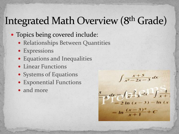 Integrated Math Overview (8