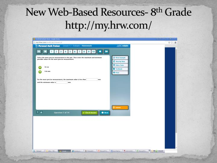 New Web-Based Resources- 8