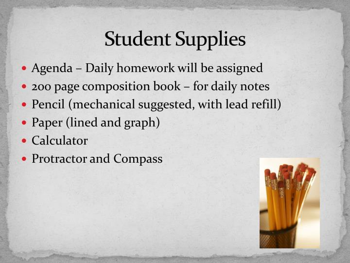Student Supplies
