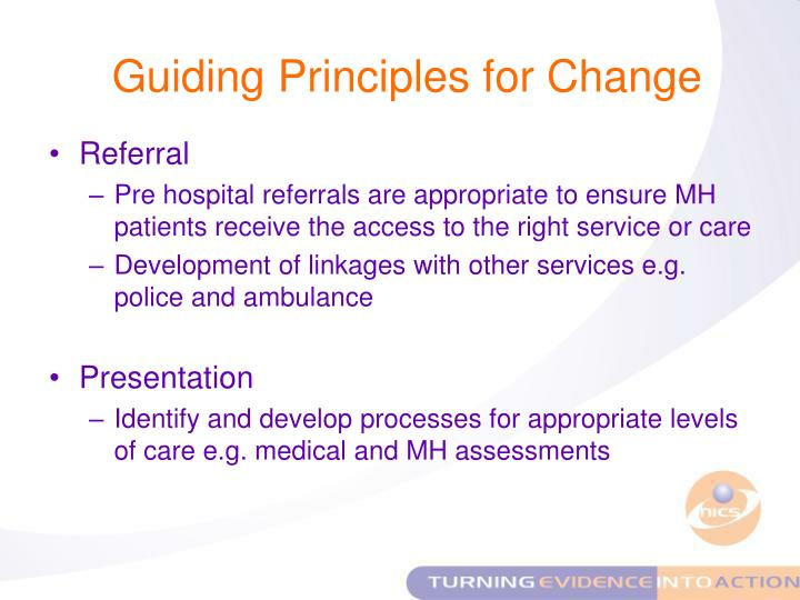 Guiding Principles for Change