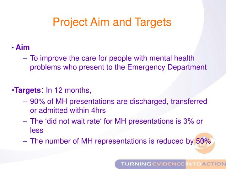 Project Aim and Targets