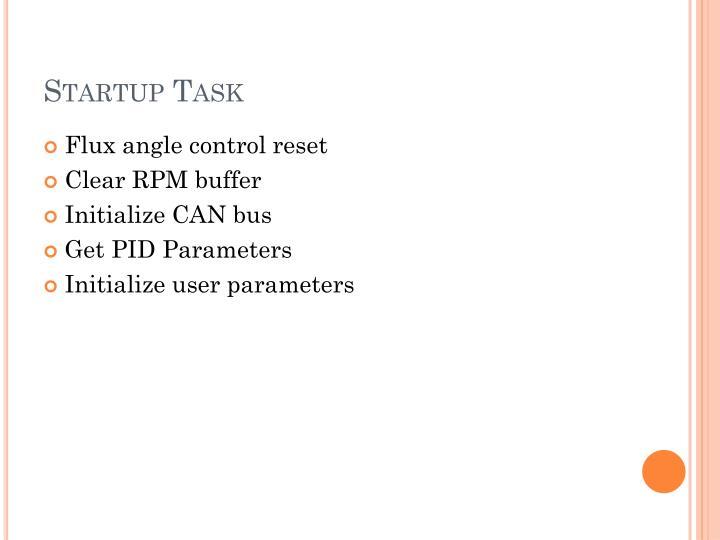 Startup Task