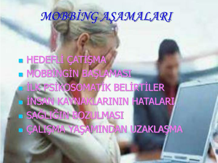 MOBBİNG AŞAMALARI