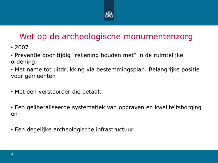 Wet op de archeologische monumentenzorg