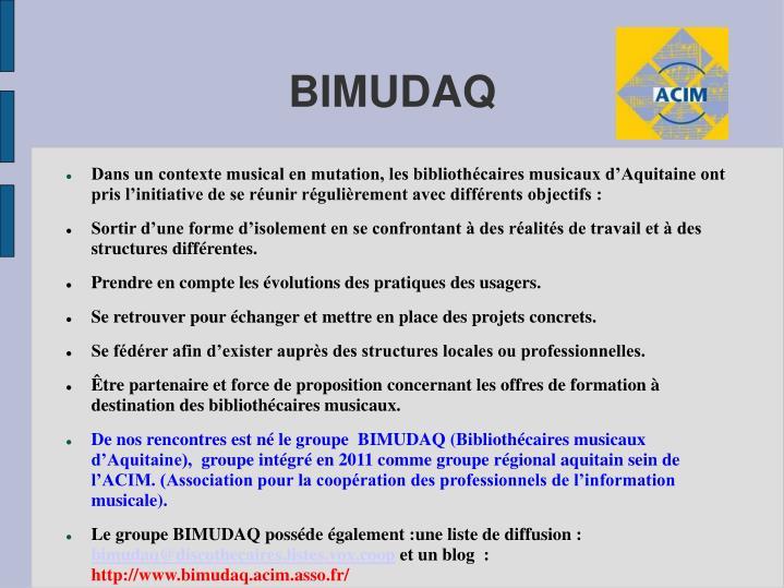 BIMUDAQ