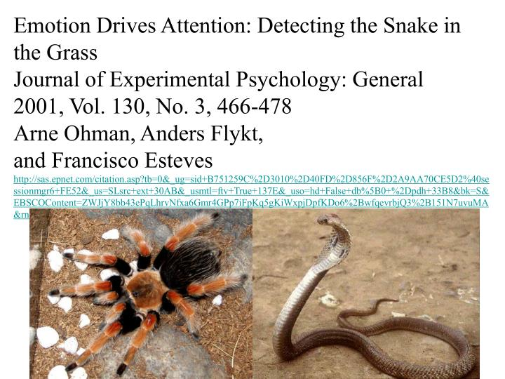 Emotion Drives Attention: Detecting the Snake in the Grass