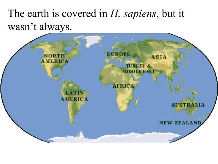 The earth is covered in