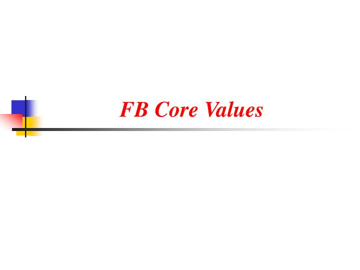 Fb core values