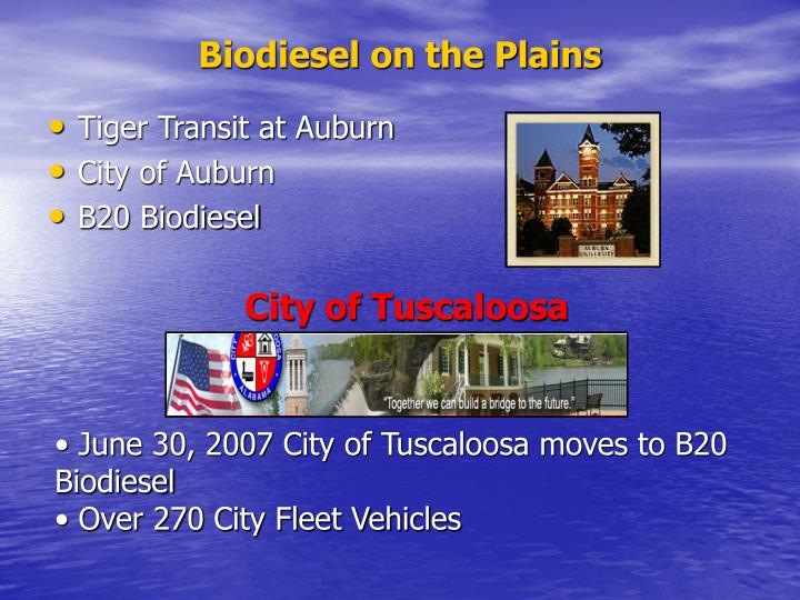 Biodiesel on the Plains