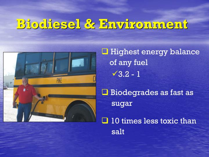 Biodiesel & Environment