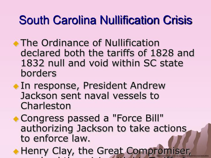 South Carolina Nullification Crisis