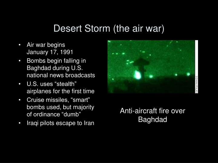 Desert Storm (the air war)