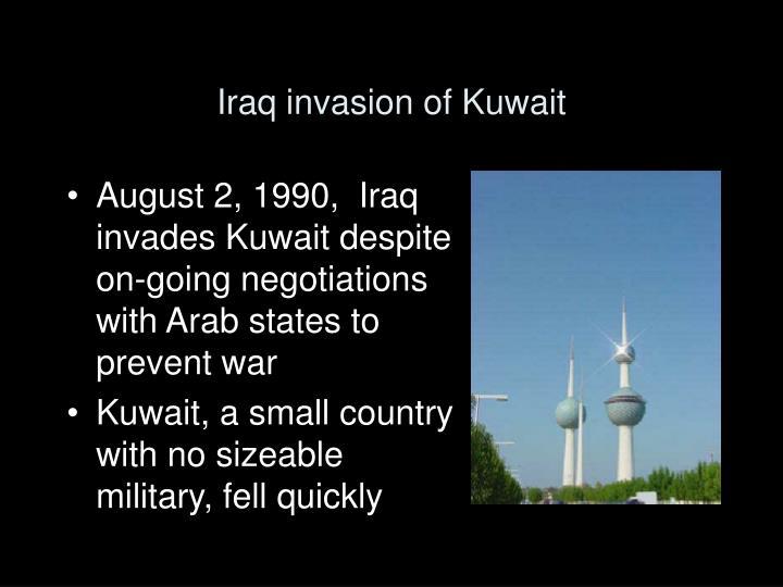 Iraq invasion of Kuwait