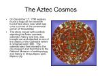 the aztec cosmos