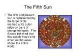 the fifth sun