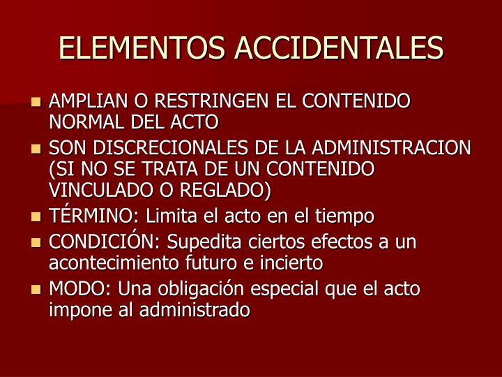 ELEMENTOS ACCIDENTALES