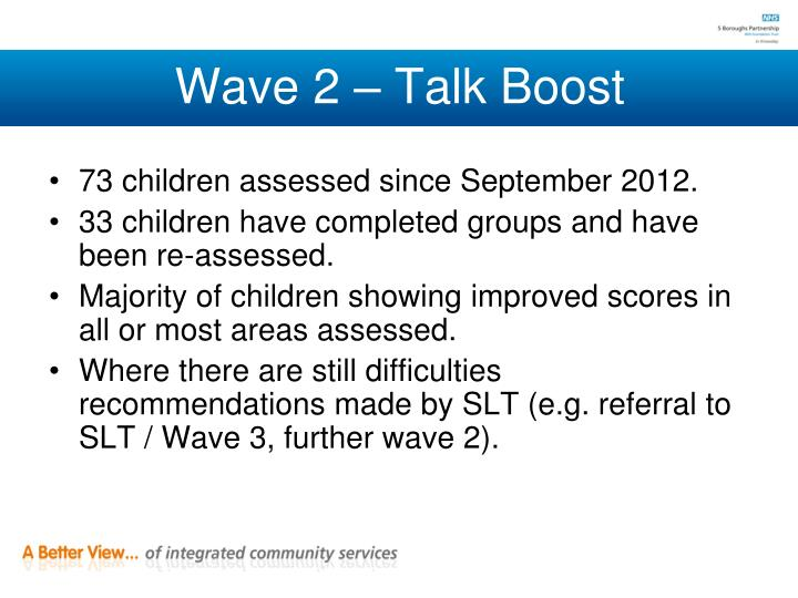 Wave 2 – Talk Boost
