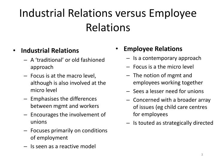 employment relationship in industrial relations M hamel-smith & co's employment law team has a wealth of practical experience in employment law and good industrial relations practice we advise and assist our clients at every stage of the employment relationship, from drafting employment contracts and policies to navigating performance and disciplinary issues, workplace injury and osh claims, managing terminations and litigating .