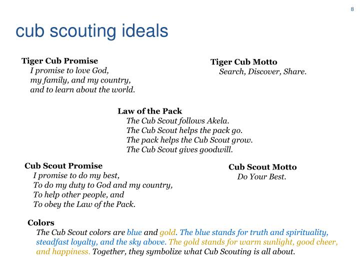 cub scouting ideals