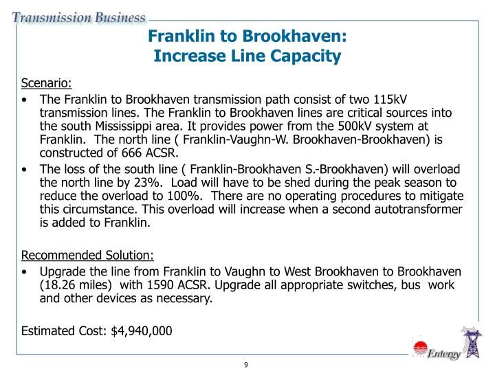 Franklin to Brookhaven:
