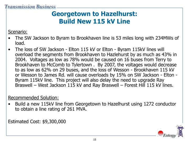 Georgetown to Hazelhurst:
