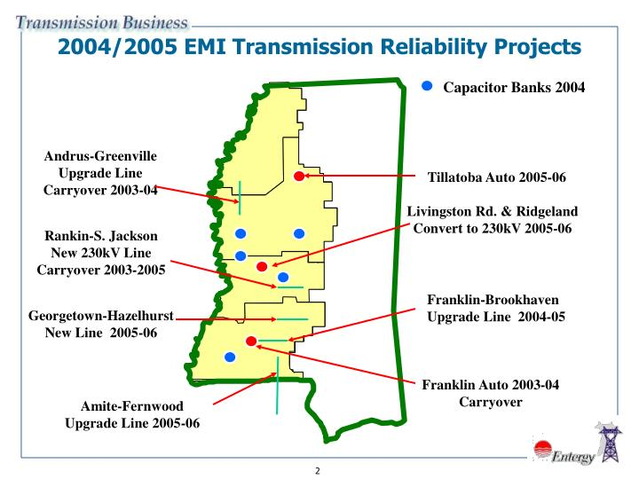 2004/2005 EMI Transmission Reliability Projects
