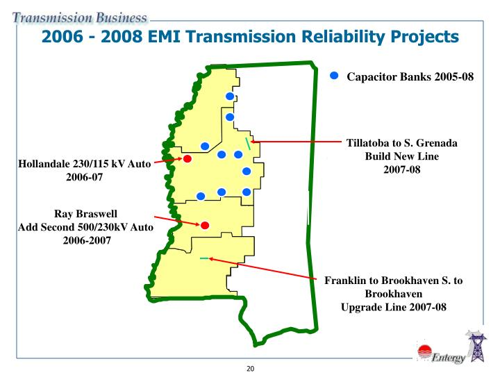 2006 - 2008 EMI Transmission Reliability Projects