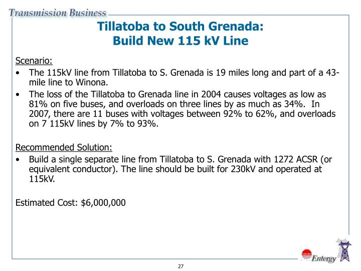 Tillatoba to South Grenada: