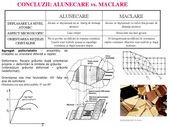 CONCLUZII: ALUNECARE vs. MACLARE