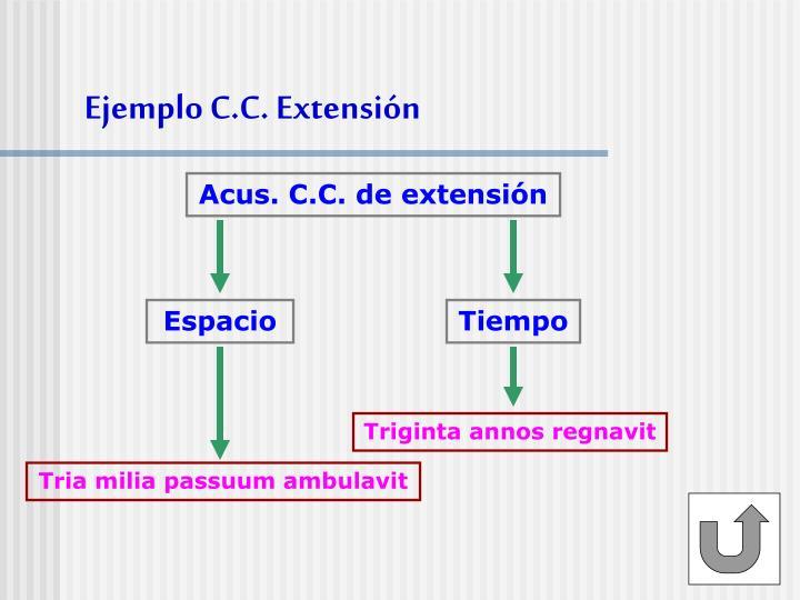 Ejemplo C.C. Extensión