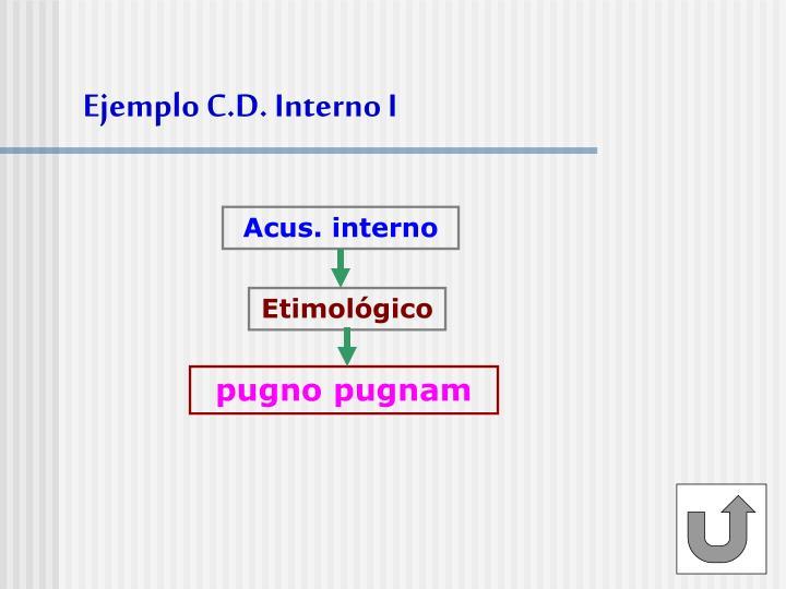 Ejemplo C.D. Interno I