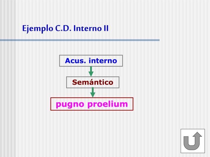 Ejemplo C.D. Interno II