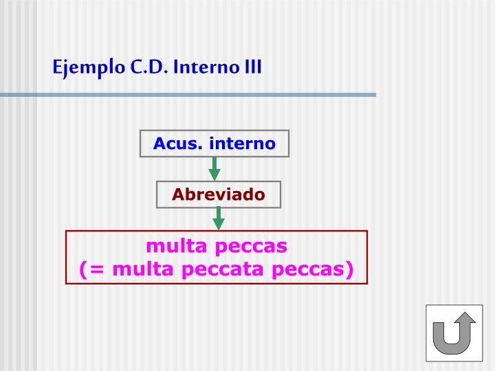 Ejemplo C.D. Interno III