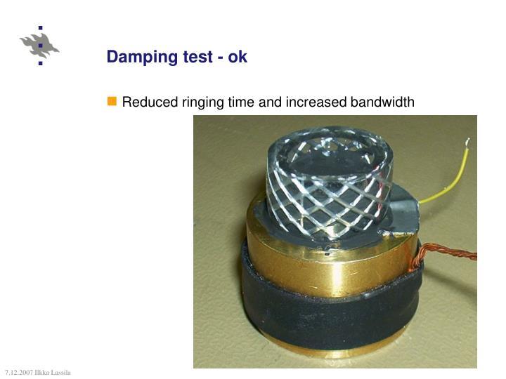 Damping test - ok