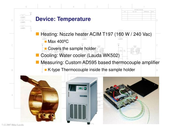 Device: Temperature