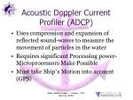acoustic doppler current profiler adcp