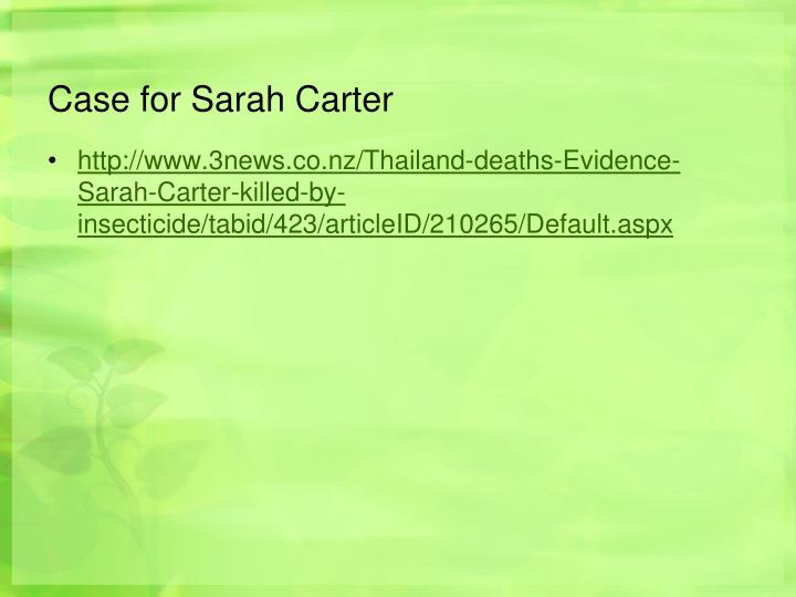 Case for Sarah Carter