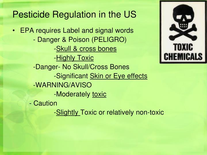 Pesticide Regulation in the US