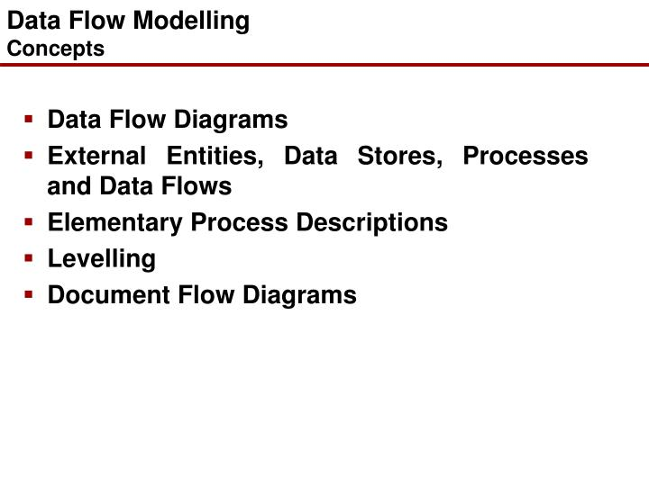 Data flow modelling concepts