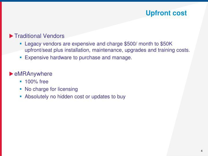 Upfront cost